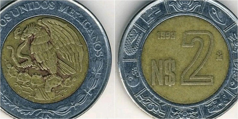 Así puedes identificar la moneda de 2 pesos que se vende en 2,000