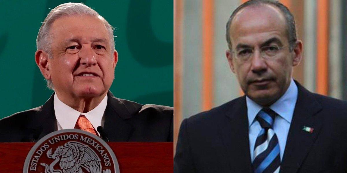 AMLO a Calderón por críticas de visita de Díaz-Canel a México: fuera máscaras porque él se entrevistó con Castro