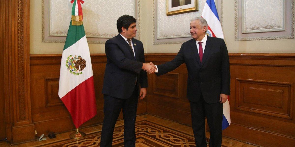 AMLO se reunió con presidentes de Costa Rica y Guatemala en Palacio Nacional