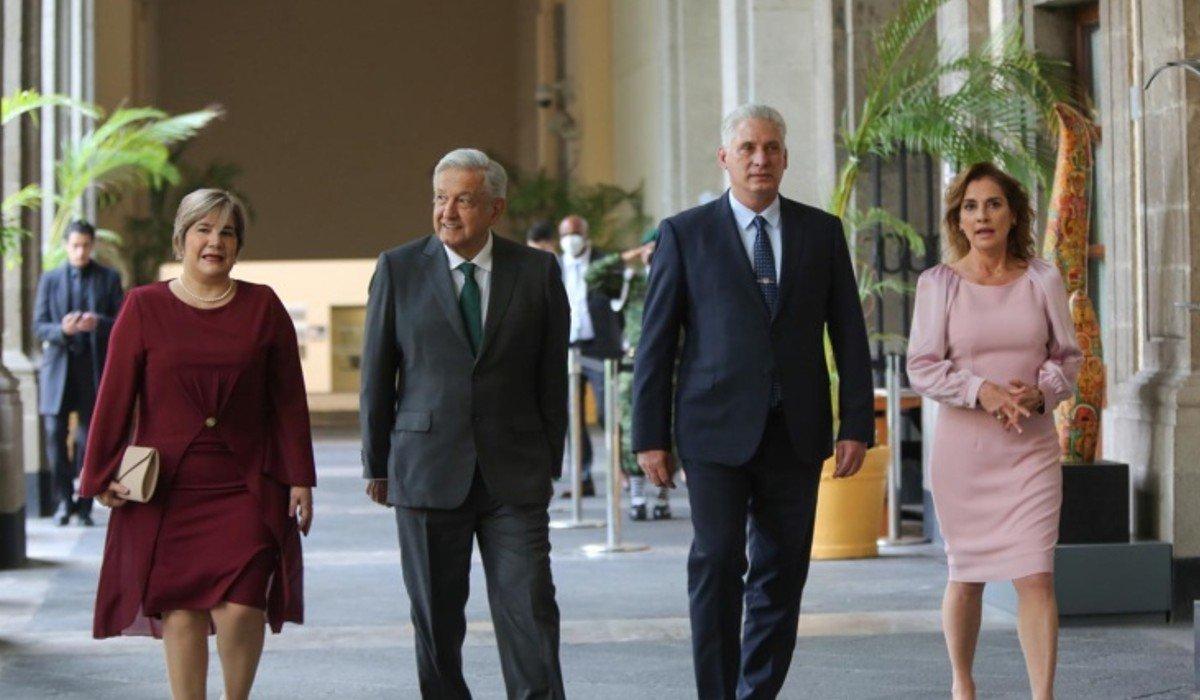 Batres, Yeidckol y Beatriz Paredes habrían acompañado a AMLO en reunión con Díaz-Canel