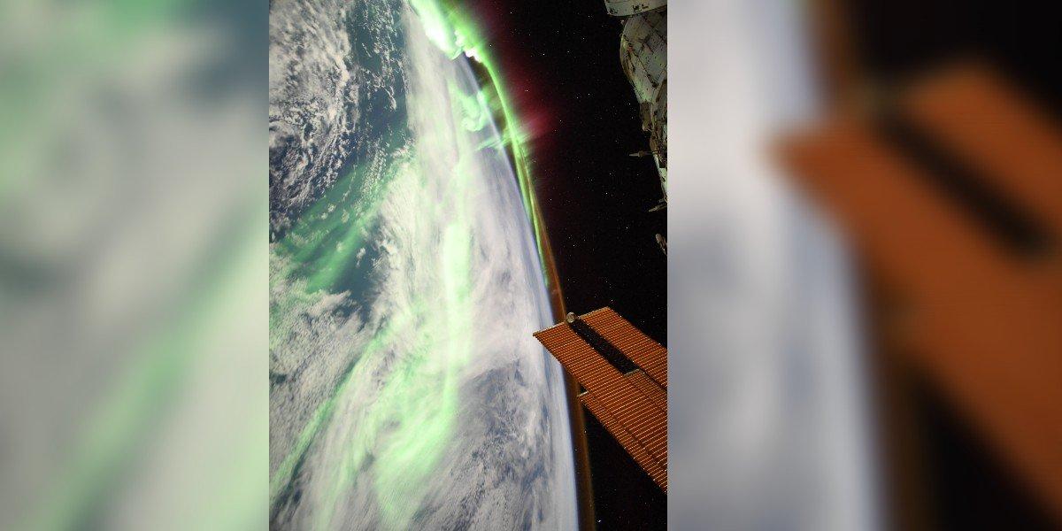 Astronauta francés captura aurora boreal desde el espacio