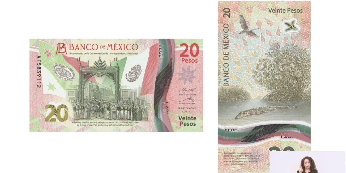 Este es el nuevo billete de 20 pesos conmemorativo del Bicentenario de la Consumación de la Independencia