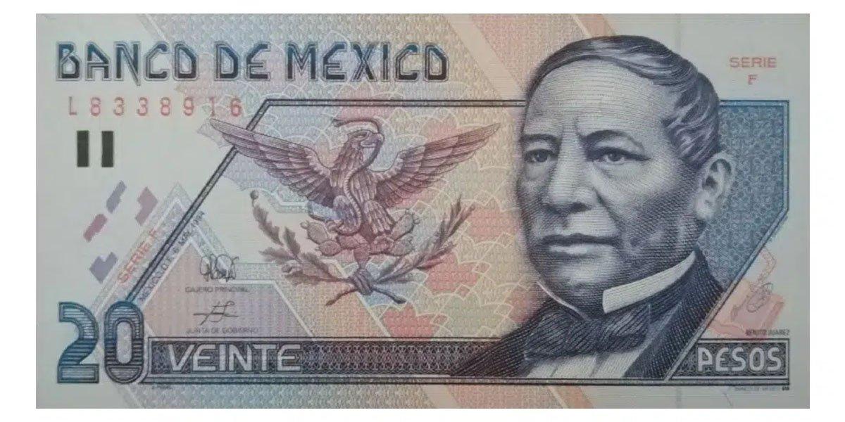 Billete de 20 pesos en buen estado se vende hasta en $90 mil en plataformas en internet