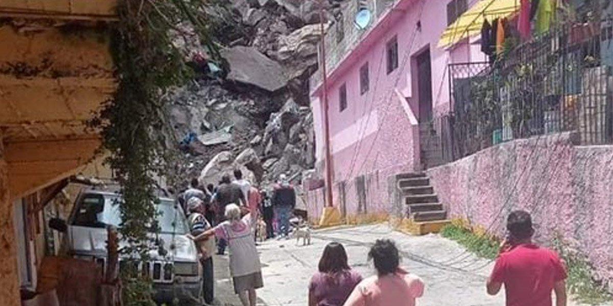 Habilitan albergues en Tlalnepantla por desgajamiento del cerro del Chiquihuite