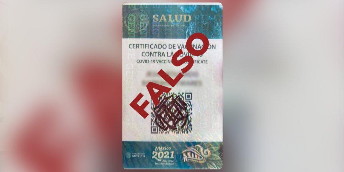Ssa alerta sobre falsa tarjeta de vacunación contra la COVID-19 que circula en redes