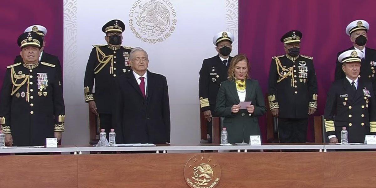 Cadete refrenda lealtad y compromiso a México frente a AMLO por 174 aniversario de los Niños Héroes