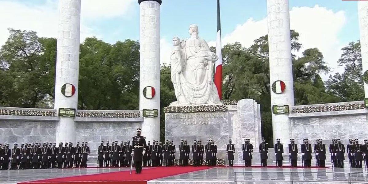 AMLO conmemora el 174 aniversario de la gesta heroica de los Niños Héroes