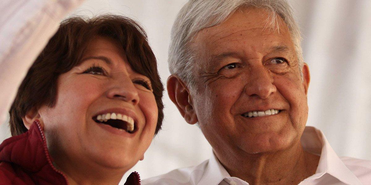 AMLO defiende a Delfina Gómez por multa del INE: la ven como posible candidata en Edomex