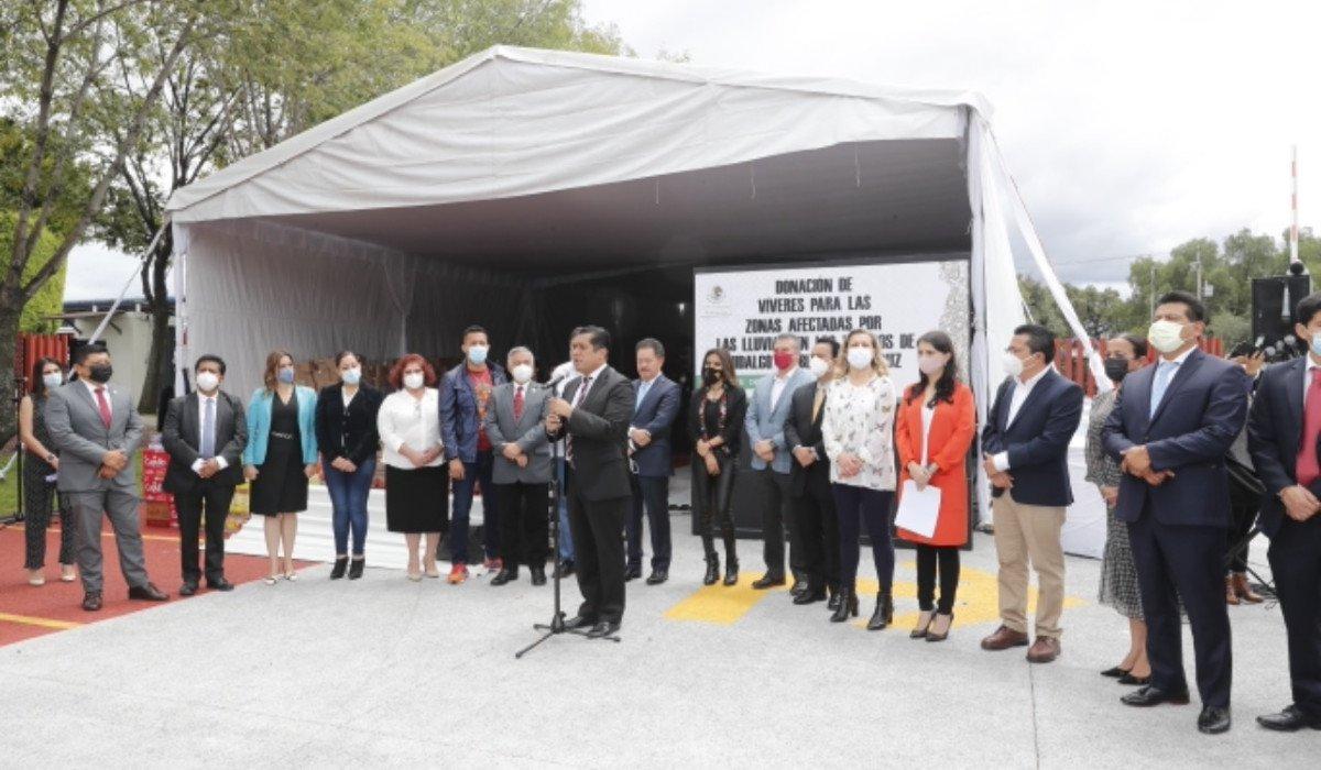 Diputados donan 62 toneladas de víveres a damnificados por el huracán Grace en Puebla, Veracruz e Hidalgo