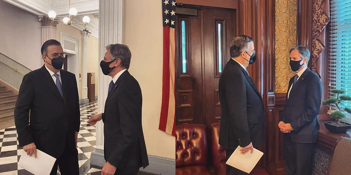 Ebrard entrega carta de AMLO para Biden durante Diálogo Económico de Alto Nivel en EUA
