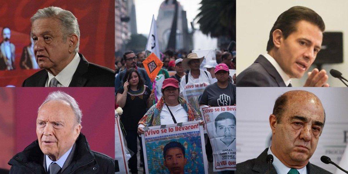 Caso Ayotzinapa: A 7 años, contrastan versiones sobre la desaparición de los 43 normalistas con EPN y AMLO