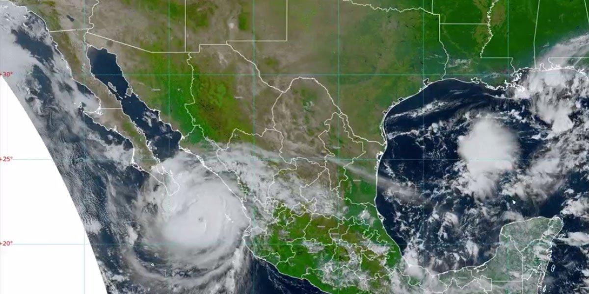'Olaf' se convierte en huracán categoría 1; se mueve hacia la Península de BCS