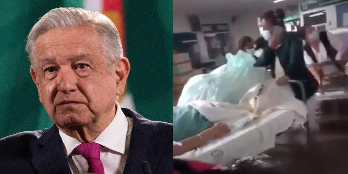 AMLO lamenta muerte de 17 pacientes del hospital del IMSS por desbordamiento del río Tula en Hidalgo