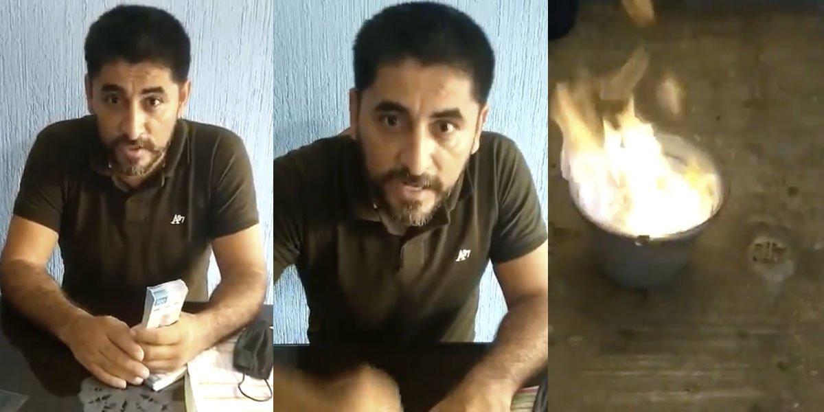 Maestro en Michoacán denuncia soborno y quema un millón de pesos