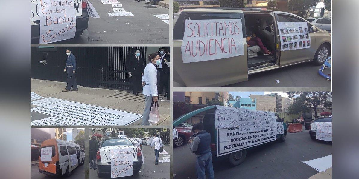Bloquean uno de los accesos del Senado manifestantes de Coacalco, Edomex