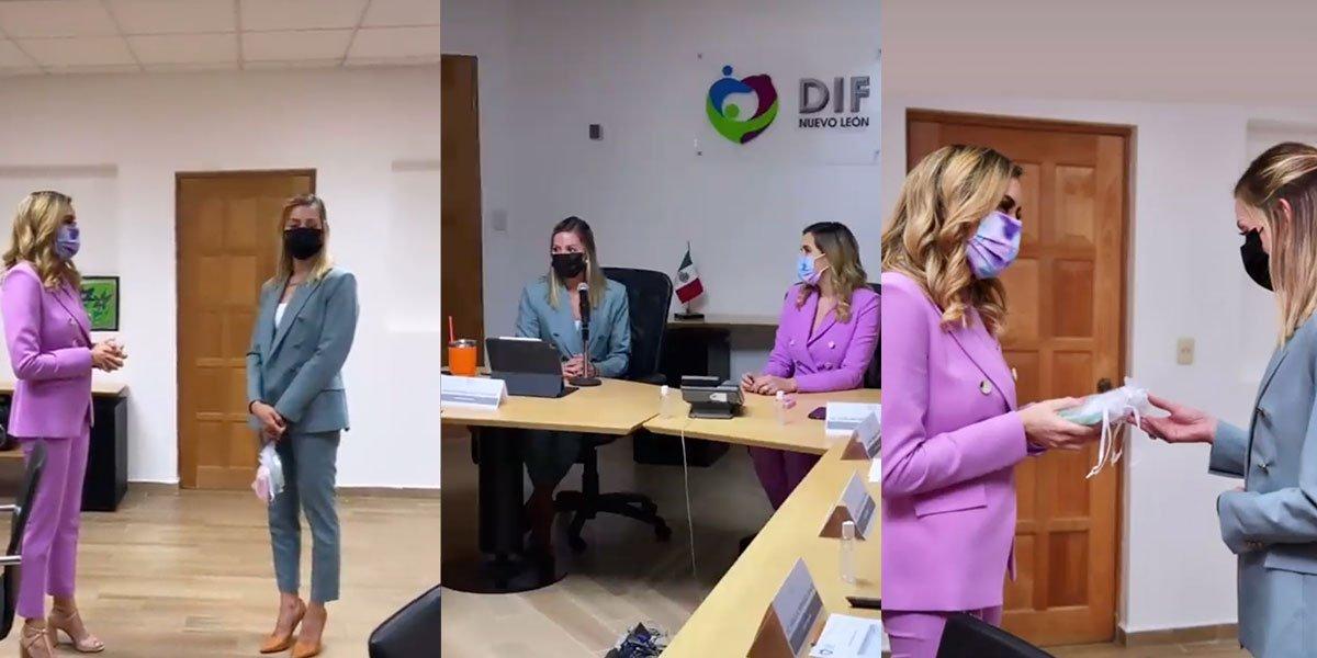 Mariana Rodríguez inicia proceso de transición en el DIF de Nuevo León