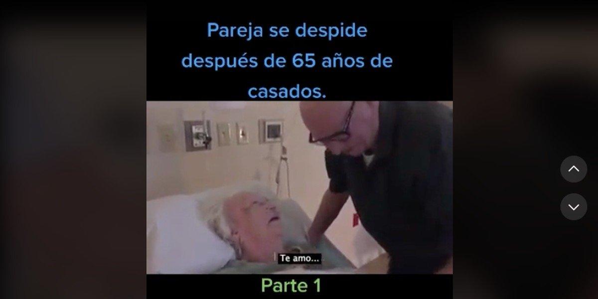 Conmovedora despedida de pareja de abuelitos tras 65 años de casados se vuelve viral en TikTok