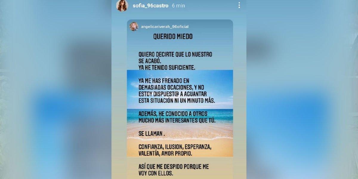 'Me despido del miedo', el polémico mensaje de Angélica Rivera en redes sociales