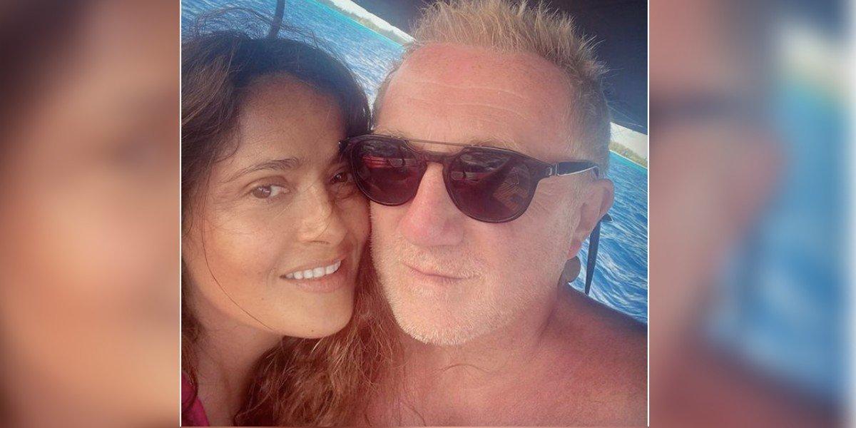 Salma Hayek agradece a su esposo François-Henri Pinault por dejar de usar prendas de piel animal