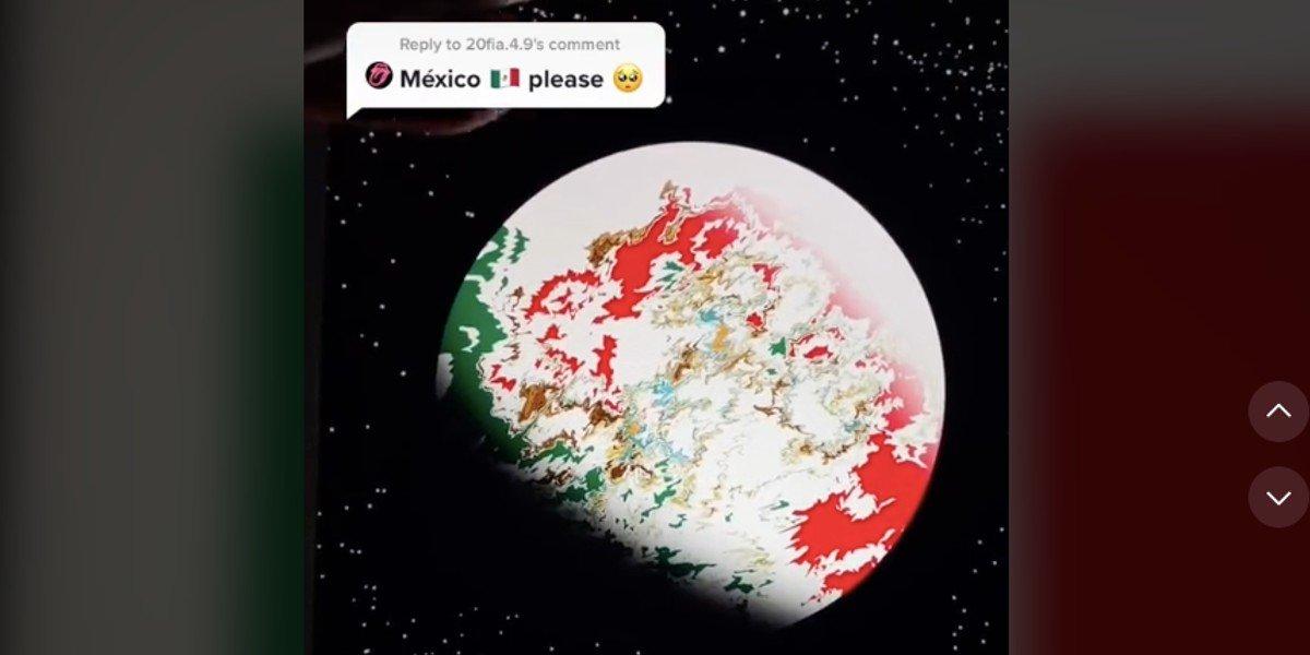 Usuario de TikTok transforma banderas del mundo en planetas