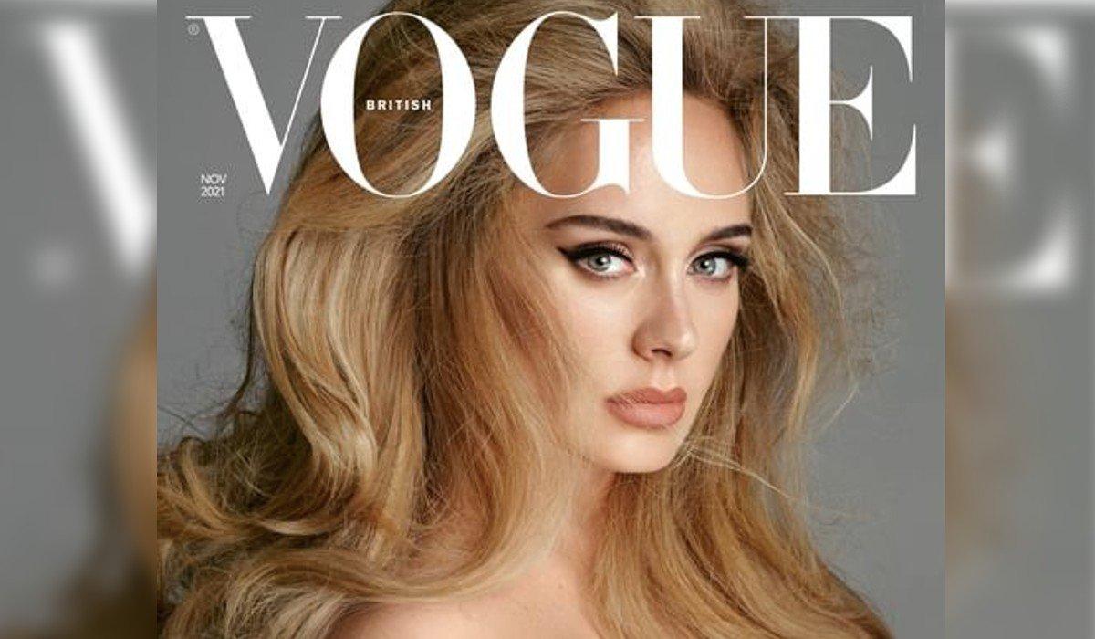 Adele impresiona en portada de Vogue con un escote estilo bardot