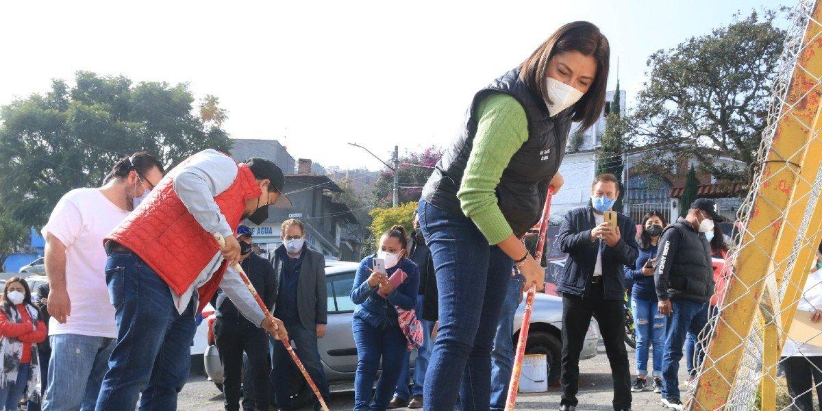 Alfa González se reunió con trabajadores de limpia en Tlalpan; buscará seguir tejiendo lazos