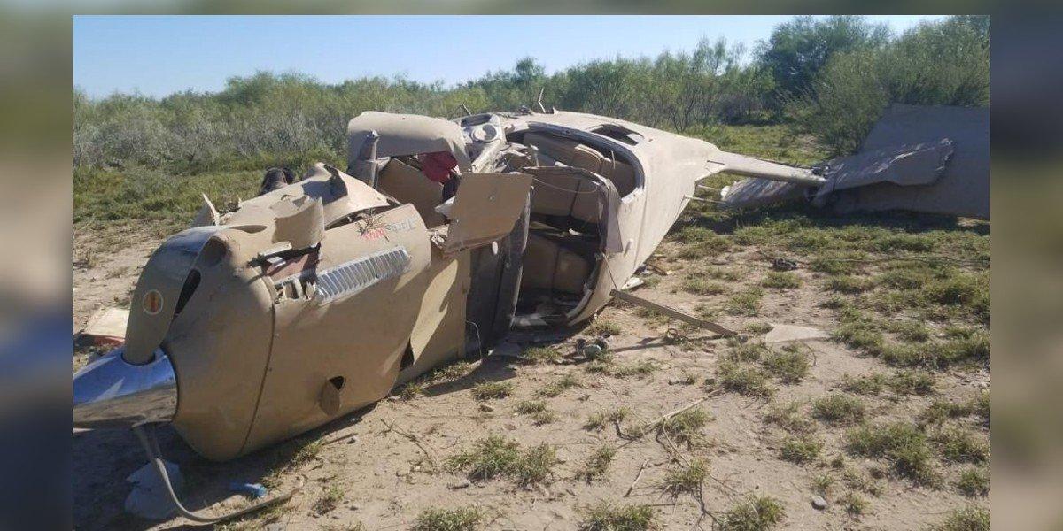 Avioneta se desploma Salinas Victoria, en Nuevo León; hay tres heridos