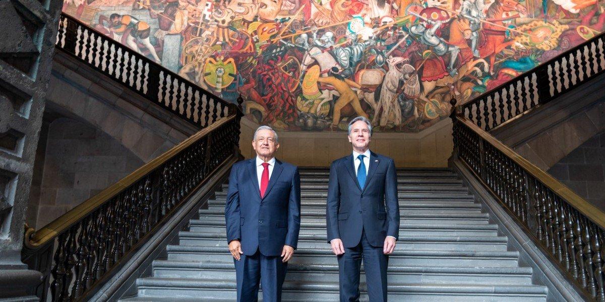 Antony Blinken destaca que murales de Diego Rivera en Palacio Nacional 'son recordatorio del pasado histórico de México'