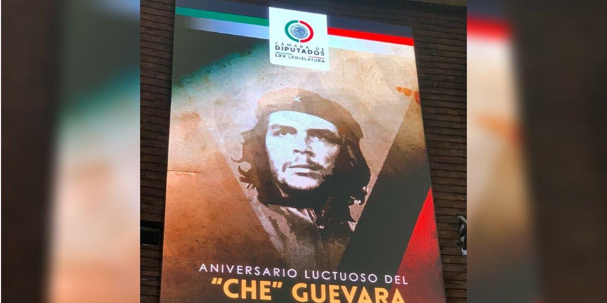 Homenaje al Che Guevara enfrenta a diputados de la 4T con la oposición