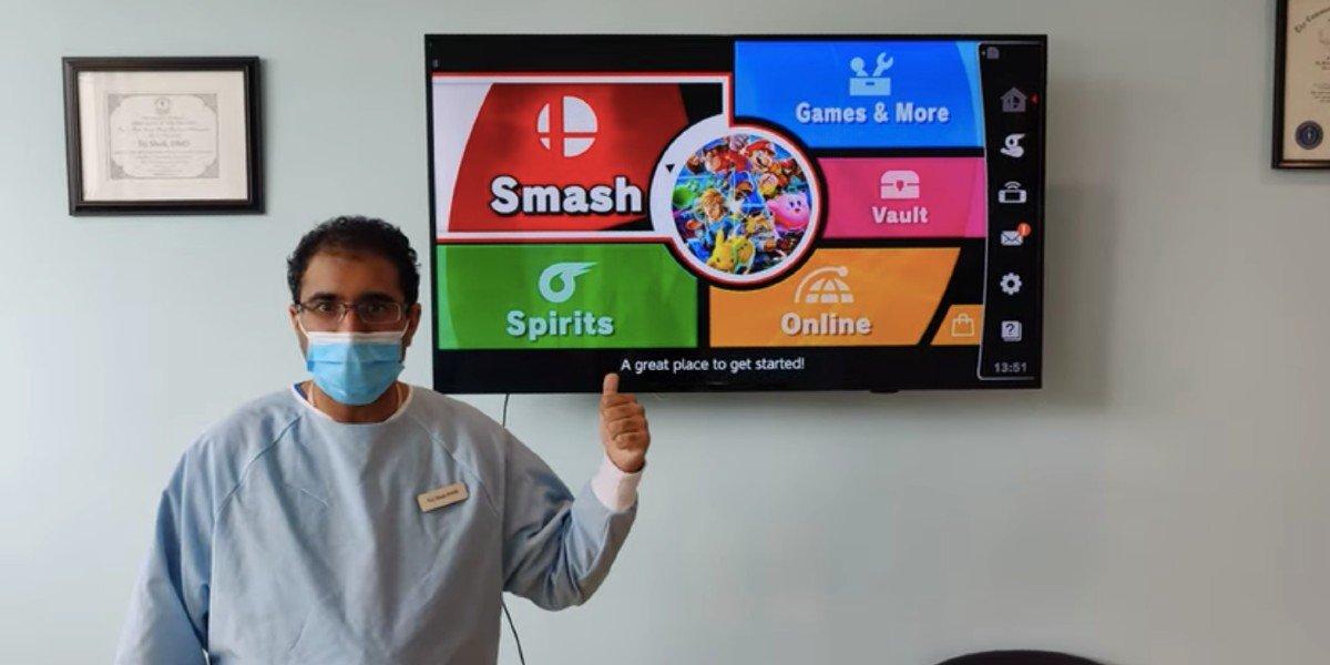 Dentista ofrece limpieza gratis si lo vencen en 'Super Smash Bros. Ultimate'