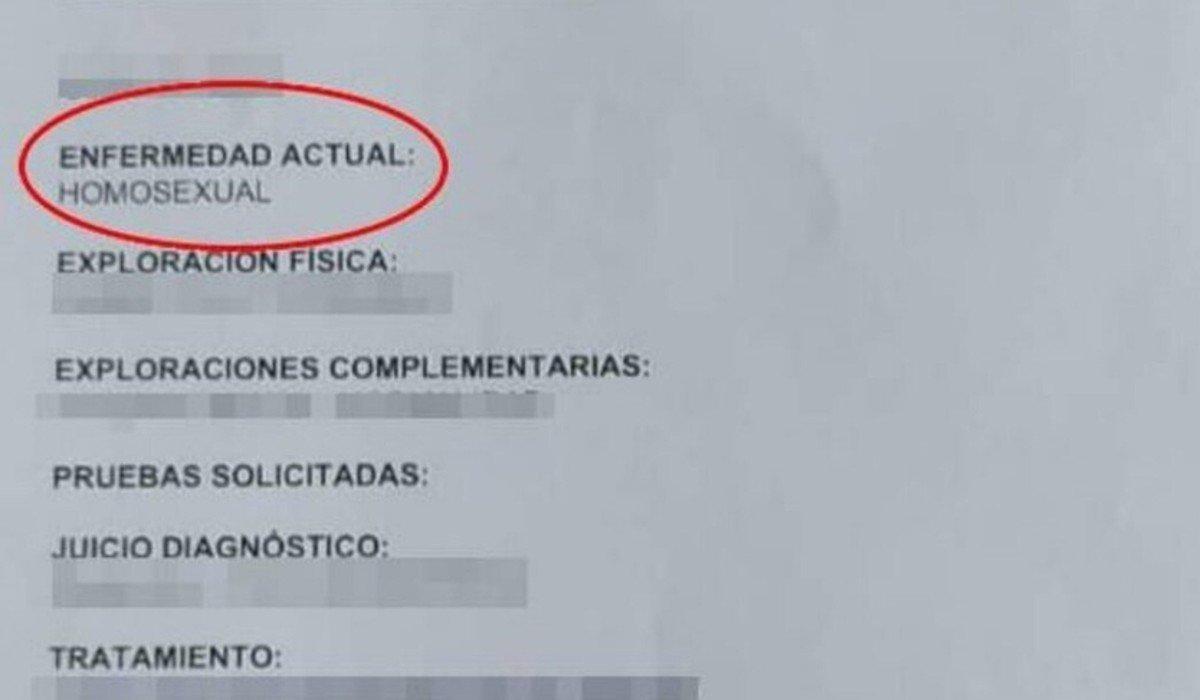 Doctor diagnostica 'homosexual' a paciente como si fuera enfermedad
