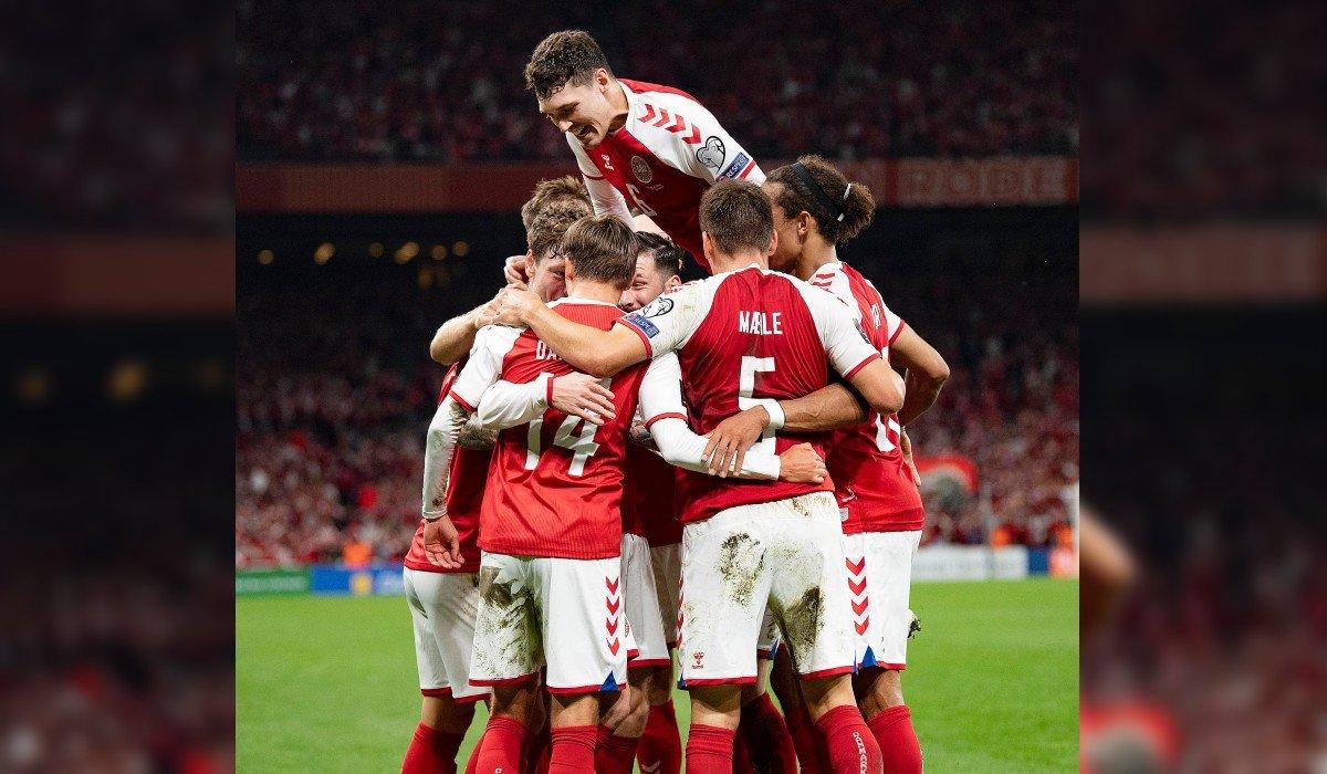 Dinamarca logra octava victoria consecutiva y asegura su lugar en Qatar 2022