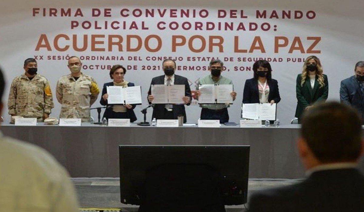 Alfonso Durazo firmó con los alcaldes de Sonora un Acuerdo por la Paz