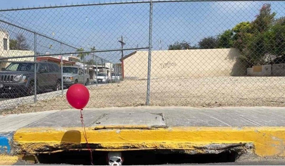 'Eso' aterroriza a vecinos desde coladera en Nuevo León