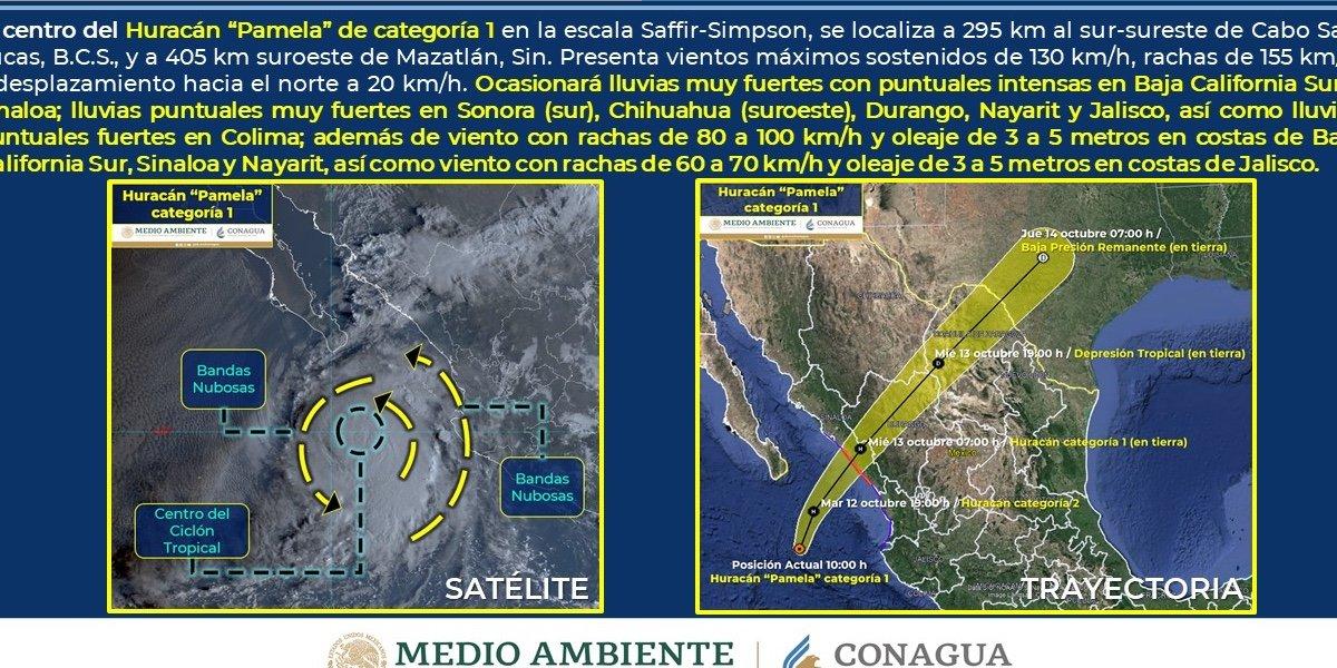 Gobierno de Sinaloa suspende actividades presenciales en escuelas por el huracán 'Pamela'