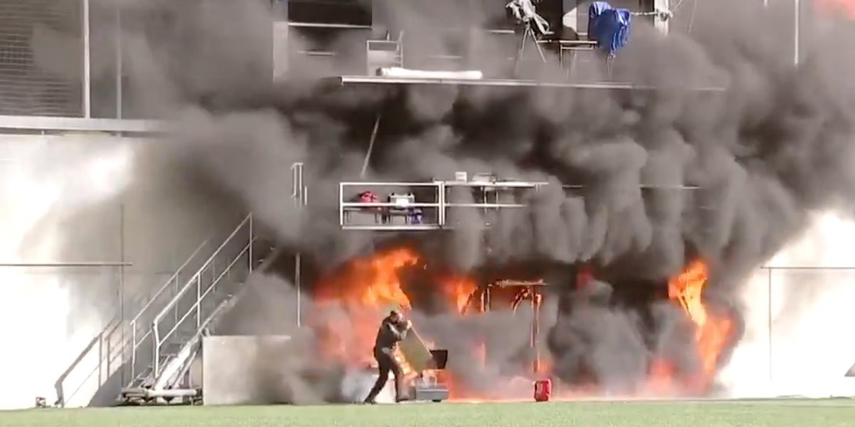 Incendian estadio de Andorra previo a partido con Selección de Inglaterra (Video)