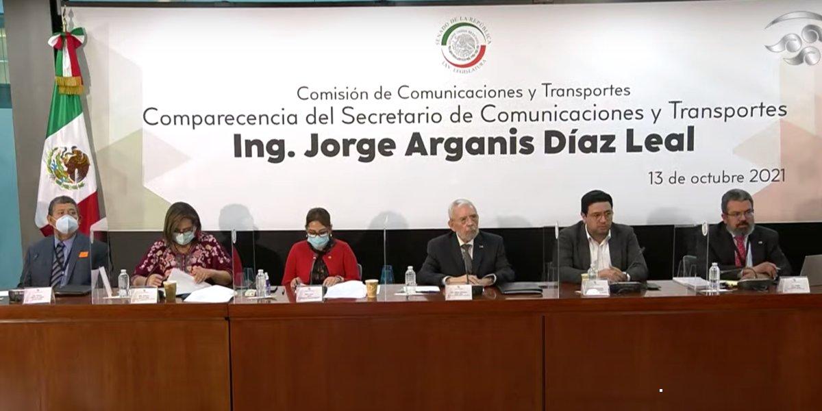 Jorge Arganis Díaz Leal comparece ante comisiones del Senado, destaca principales acciones