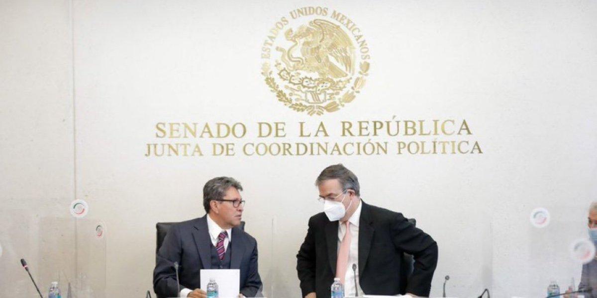 Ebrard se reúne con Jucopo del Senado para explicar nueva estrategia entre México y EUA