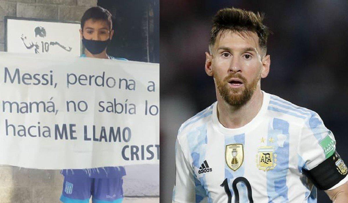 Niño pide perdón a Messi por llamarse Cristiano: mi mamá no sabía lo que hacia