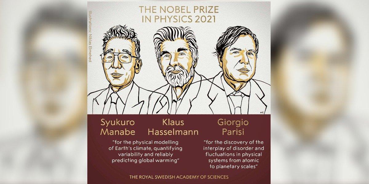 Ellos los ganadores del Premio Nobel de Física 2021