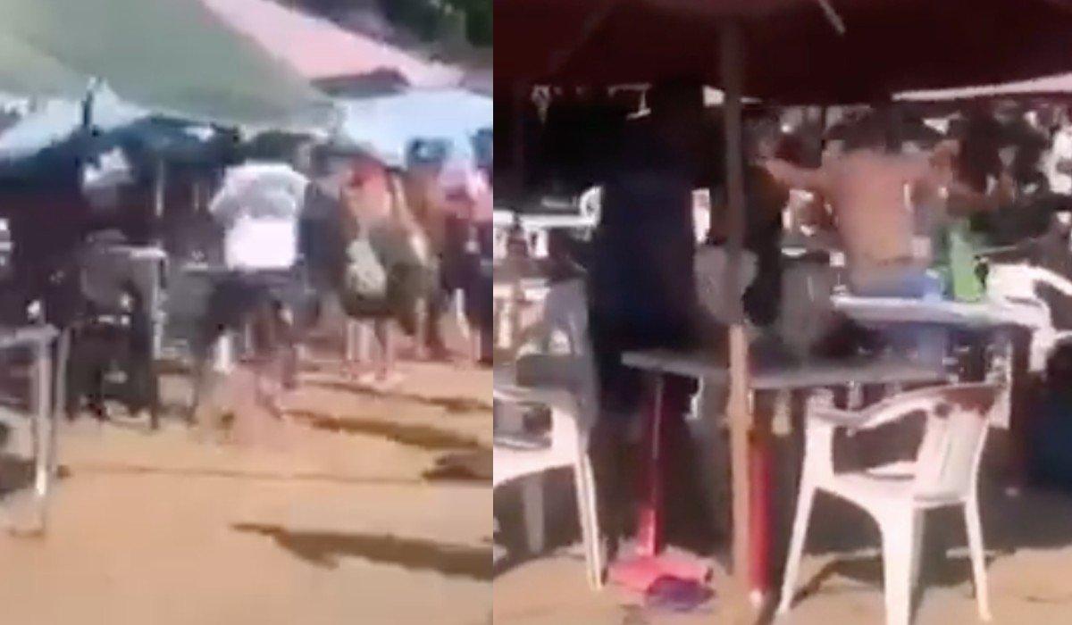 Vuelve a armarse pelea campal en Acapulco entre turistas de CDMX y empleados de un negocio en la playa