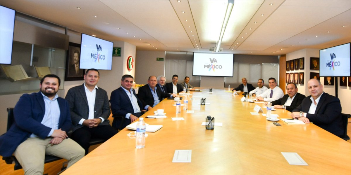 Líderes de coalición Va por México se reunieron para confirmar el proyecto