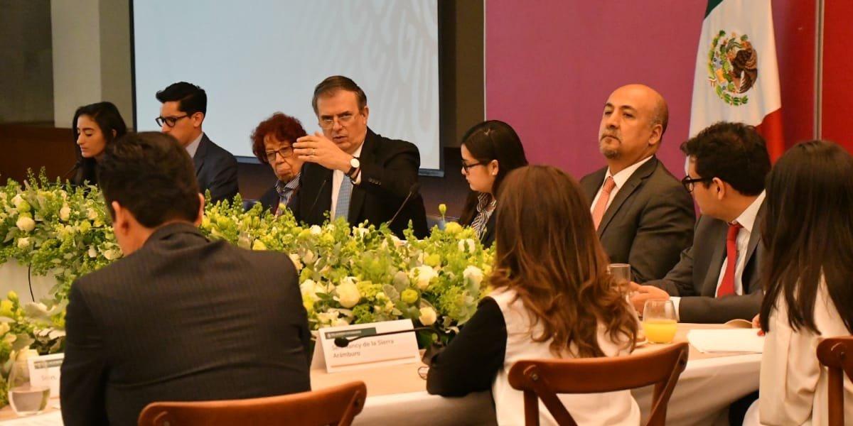 Senadores sostuvieron encuentro con Ebrard; hablaron sobre migración, agenda 2030 y T-MEC
