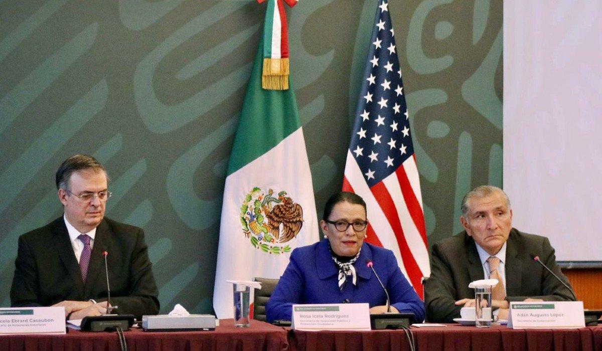 Rosa Icela Rodriguez subrayó estrategias para construir la paz en el Diálogo de Alto Nivel de Seguridad México-EUA