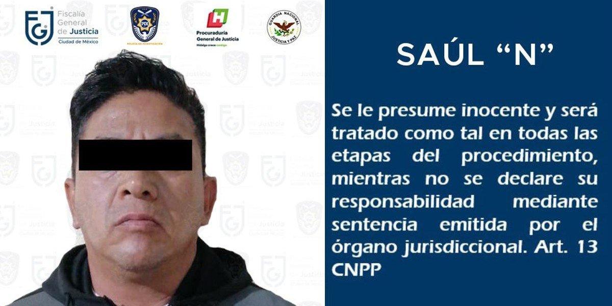 Fiscalía de CDMX detiene a Saúl 'N' por la desaparición de 2 jóvenes en Azcapotzalco