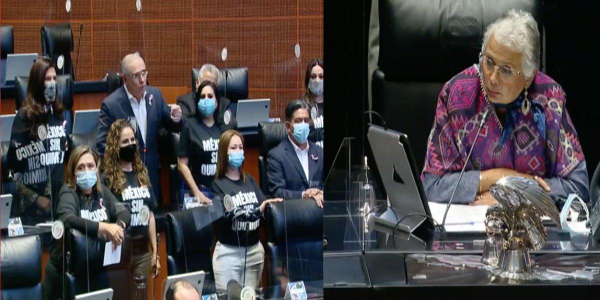 PAN hace responsable a AMLO de seguridad de Lilly Téllez; Morena revira y pide elevar el debate