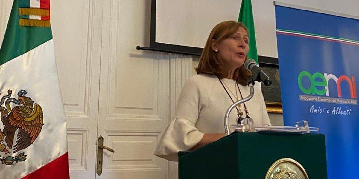Tatiana Clouthier se reúne con asociación de empresarios en Italia