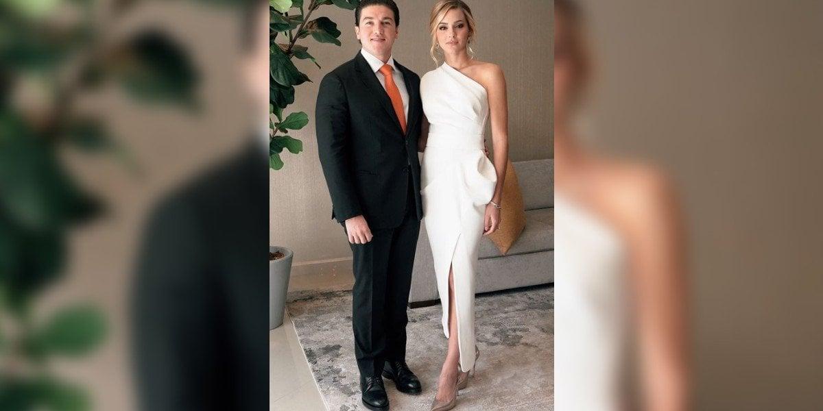 Mariana Rodríguez anuncia que subastarán vestido blanco que lució en protesta de Samuel García