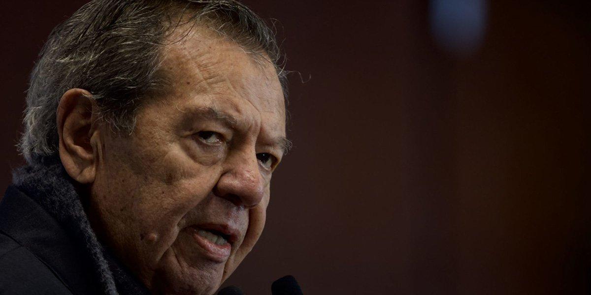 Muñoz Ledo lamenta ausencia de AMLO en entrega de medalla a la senadora Ifigenia Martínez