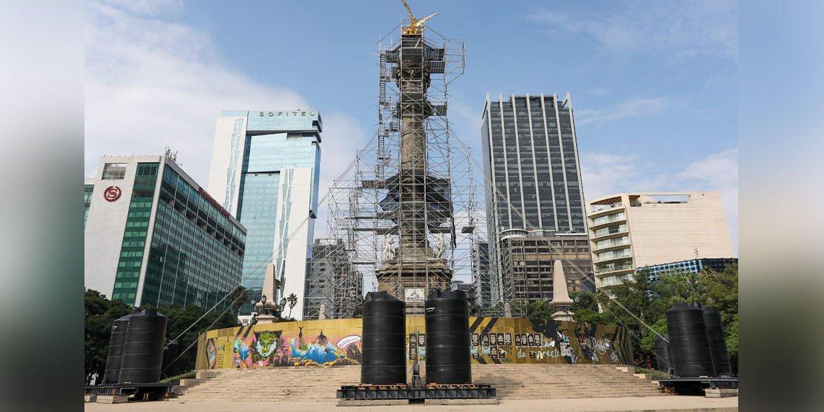 Retiran vallas metálicas que resguardaban el Ángel de la Independencia en CDMX